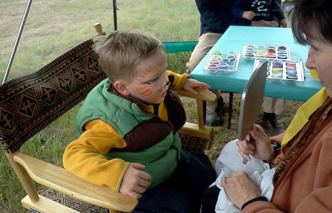 FACE PAINTING will be part of the fun at the 15th annual High Praire Firehouse Sale starting Friday, May 16 outside of Lyle.	Contributed photo