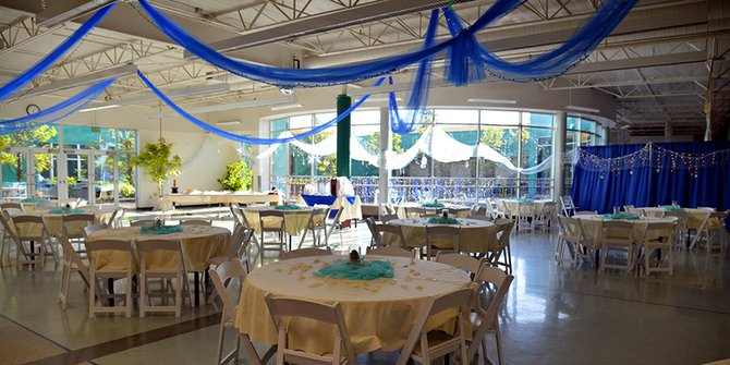 The HRVHS commons and cafeteria areas were transformed into a magical dance and dining area by Prom Committee members with the help of a number of parents, staff members, and businesses, who donated everything from lights and fog machines to tables and chairs — at a moment's notice.