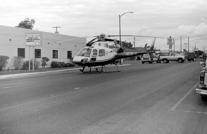 Syringa Hospital proposes to build a helipad at the former Ernie's Steakhouse location on Main Street across from its facility. Landing helicopters in this area is not unique. On Sept. 18, 1996, a MedStar helicopter was cleared to land on Main Street in front of the hospital to deliver a heart attack victim from Elk City.