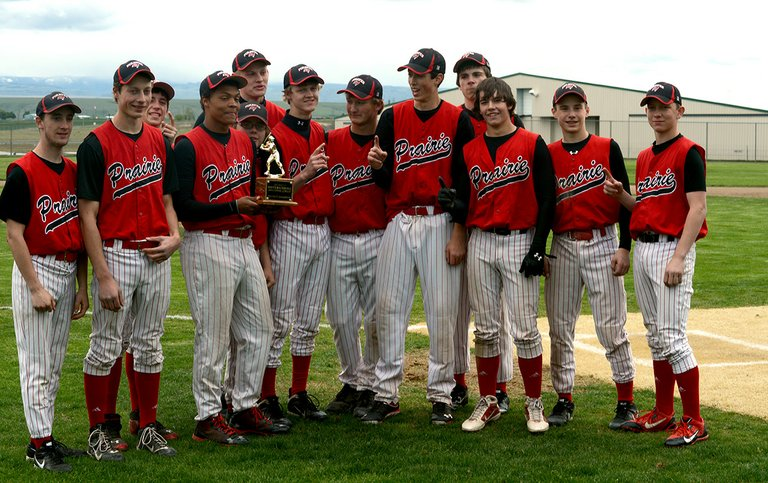 Prairie's upstart baseball team dominated the 1A District II tournament held last Thursday and Friday, May 8-9, at Lewiston's Airport Park.