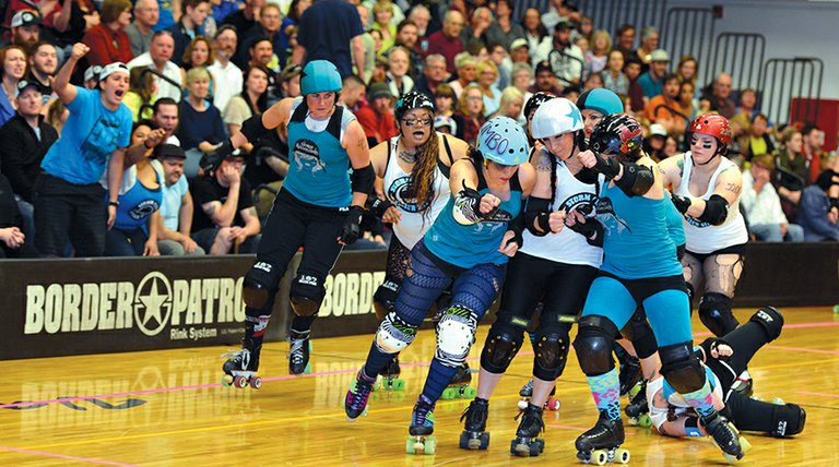 Gorge roller girls hosted the Storm City Rollers Saturday at HRVHS.The bout ended 382-68 in favor of the home team, with Ginger Binger scoring a team-high 104 points.