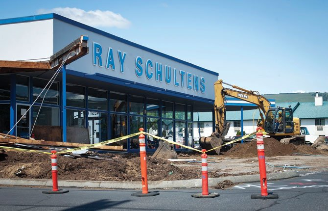 RAY SCHULTENS MOTORS is engaged in its first major remodeling project since the building was constructed in 1977.