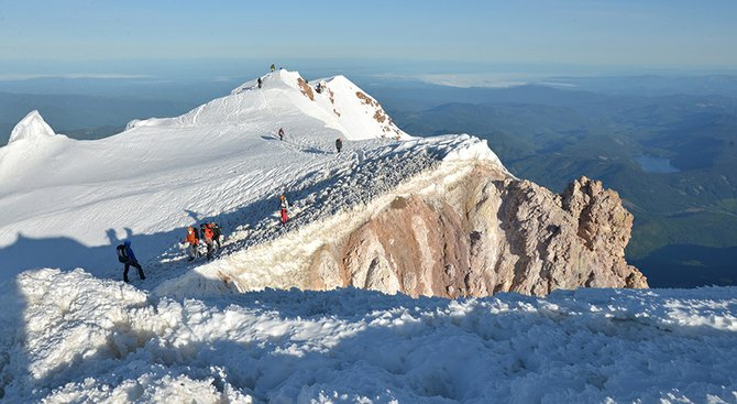 The summit of Mount Hood attracts hundreds of climbers every spring, including New Jersey resident Robert Cormier, who fell to his death earlier this week after reaching the summit.