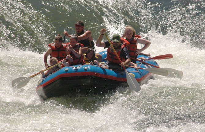 SHORT WHITEWATER rafting trips will be part of the fun at Maupin's Riverfest this Saturday and Sunday.