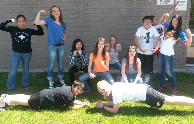 AN INTREPID GROUP of young students will be sweating out a particularly grueling CrossFit workout on Memorial Day in honor of fallen Navy SEAL. Pictured front row,from left, Gio Avila, Lauryn Belanger; back row, Karla Najera, Kathryn Bradford, Sareni Garcia, Grace Schatz, McKenzie Shaw, Halle Haskins, Aiden Telles, Eman Quevedo and Sophia Pullen. 	Contributed photo