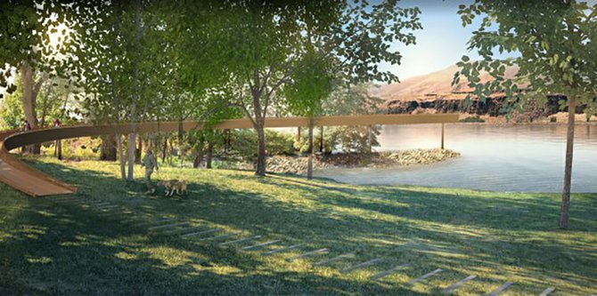 The Confluence Project plans to construct an art installation by artist Maya Lin at Celilo Park.
