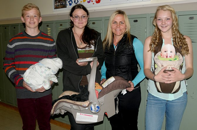 Eighth grade students and  Sack Of Flour Baby Project