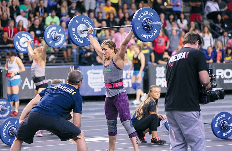 Crossfit Hood River's Regan Huckaby competes in one of many events in the Northwest Regional Championships, where she placed second to qualify for the world-wide Crossfit Games, held this summer in Carson, Calif.