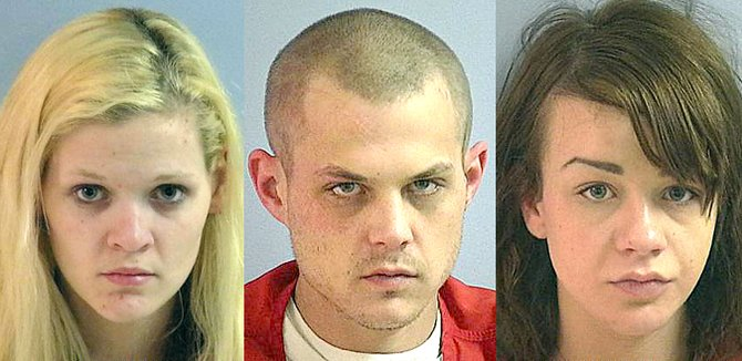 Justine C. Belgarde, Lucas D. Cook and Alyssa Ann Descoteaux were arrested Friday for allegedly dealing heroin and prescription drugs in Omak.