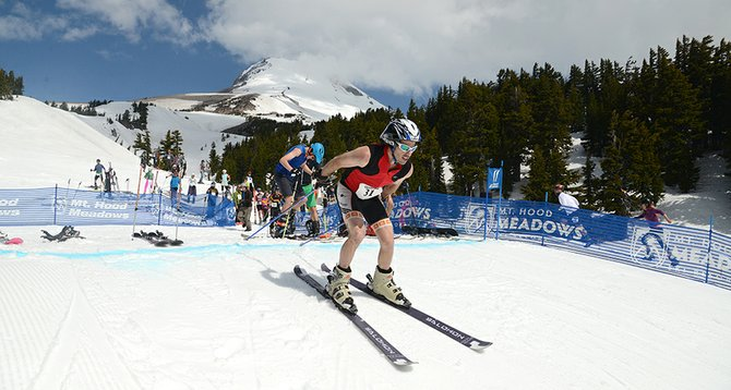 Saturday's Hood2River Relay started on Mt. Hood Meadows' North Canyon ski run, then transitioned to a Nordic course around the resort's base area.