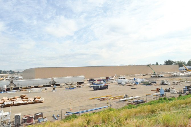The $23 million Seneca Foods expansion project on Sunnyside's East South Hill Road is anticipated to be complete this coming August.