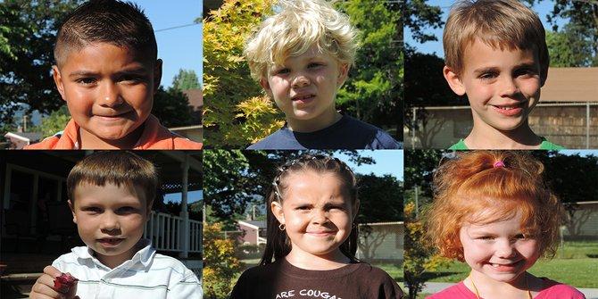 Clockwise from top left:  Diego Bustos, Jack Miller, Nicholas Tuttle, Trinity Evans,  Sofie Rodriquez Estrada,   and Jess Aubert.
