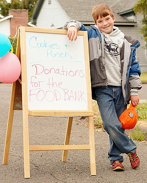 Mark Boehmke of Grangeville raised a total $350 at his South Meadow Street lemonade stand last Saturday, June 14, all the proceeds from which go to the Camas Prairie Food Bank. This is the second year for his drink stand fund-raising effort; last year he raised $200, and next year his goal is $500.