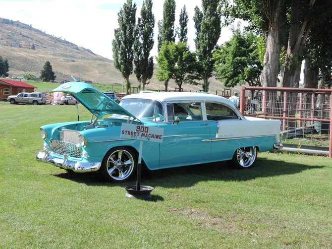 Dick Sweetman's 1955 Chevrolet Bel-Air took home best engine, best interior and first place in the street machine division.