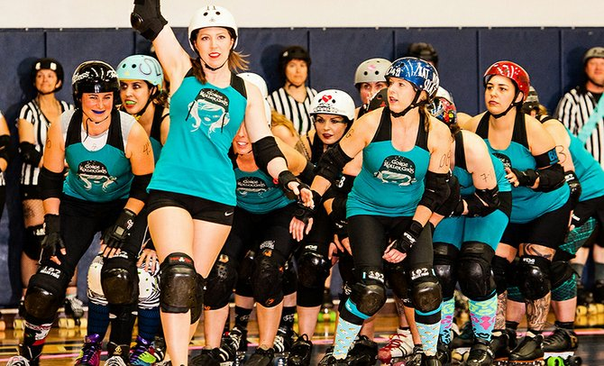 GINGER BINGER and the Gorge Roller Girls