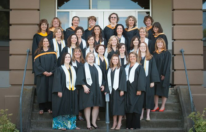 NURSING SCHOOL graduates from Columbia Gorge Community College earned pins June 12 as part of a traditional ceremony.Contributed photo