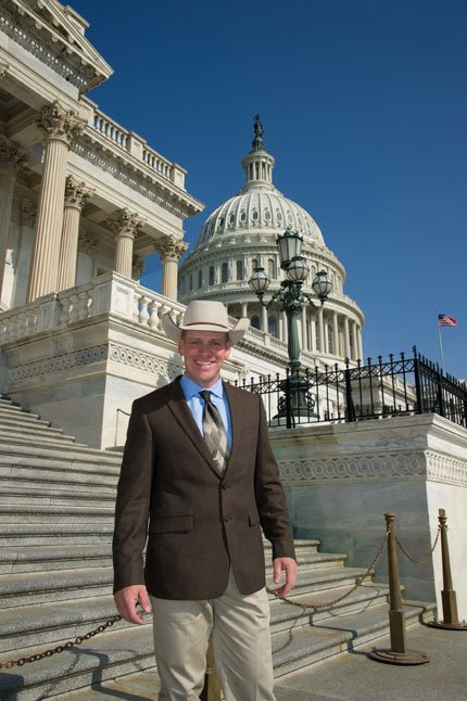 KEITH NANTZ of Maupin visits Washington, D.C. He was named chair of the National Young Cattlemen's Committee.	Contributed photo