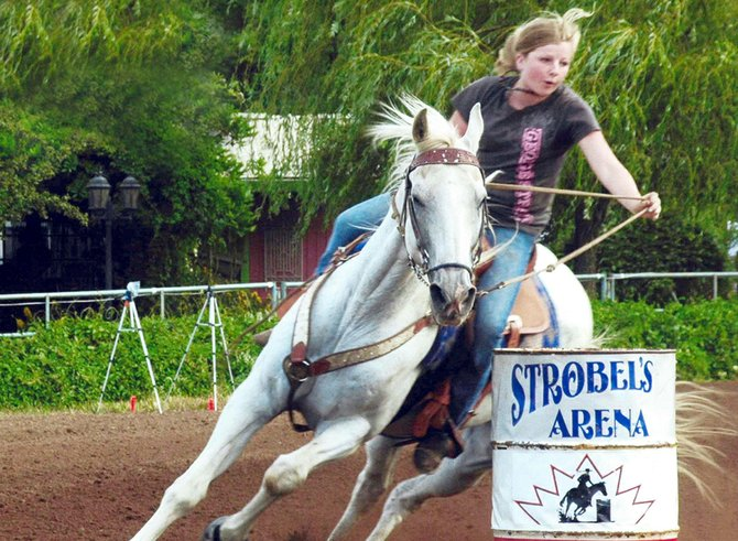 BARREL RACER Josee Claxton competed in the Let Freedom Ring barrel race over the July 4 weekend