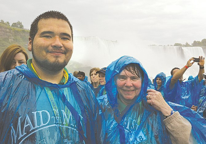 During a break from the Olympiad, Juan Casas and teacher Joyce Stark enjoyed a sight-seeing trip to Niagara Falls.