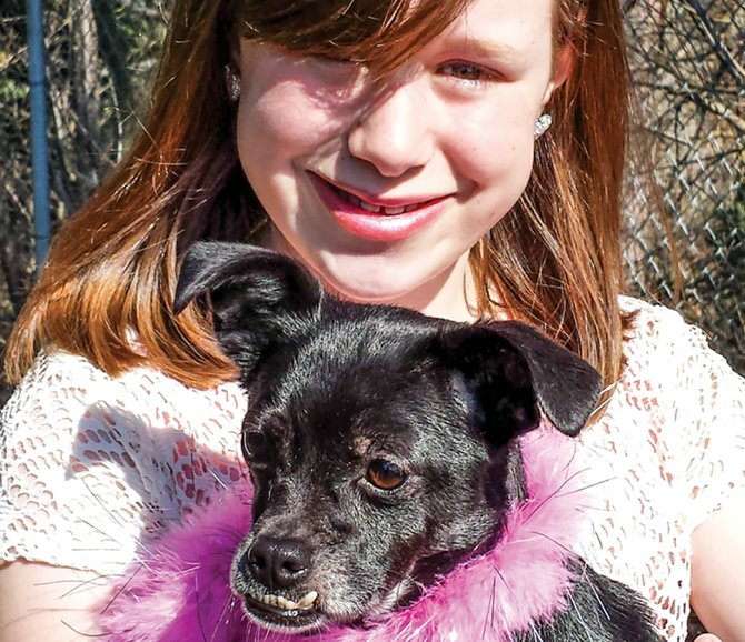 "MADELINE and her dog, Eleanor. Madeline said, ""She will always be the best dog ever."""