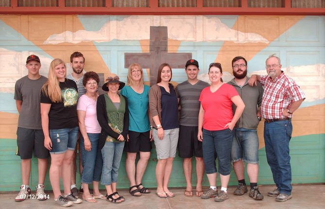 The mission group from Moro is pictured here. From left is Ryan and Katie Asher, Colby Judha, Carol MacKenzie, Sarah Ceci (of San Diego), Joyce Stone, Heather and Justin Hastings, Megan Stone, Sean Stone, and Pastor Bob Stone.   Contributed photo