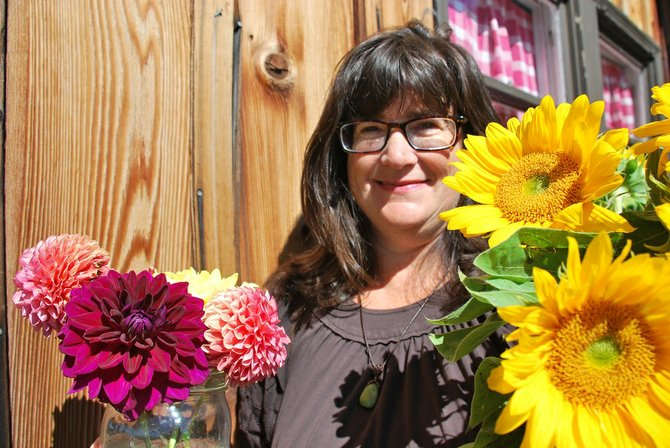 Look for the bright colors of summer in Susan Coulon's Eyrie Road Flowers at the White Salmon Farmers Market during the last market of July and markets scheduled in September. Coulon uses locally grown flowers from Underwood and Hood River to create her naturally inspired bouquets.