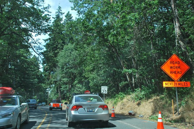 A trip to White Salmon and Bingen from just outside White Salmon's northern city limits may take up to 20 minutes longer over the next several weeks, as the state Department of Transportation does chip sealing and other road improvements on State Route 141 from milepost 0 to 29.3 (past Trout Lake). Work will also be done on SR 141A and SR 14, from Bingen east. The majority of traffic control will be with the use of pilot cars.