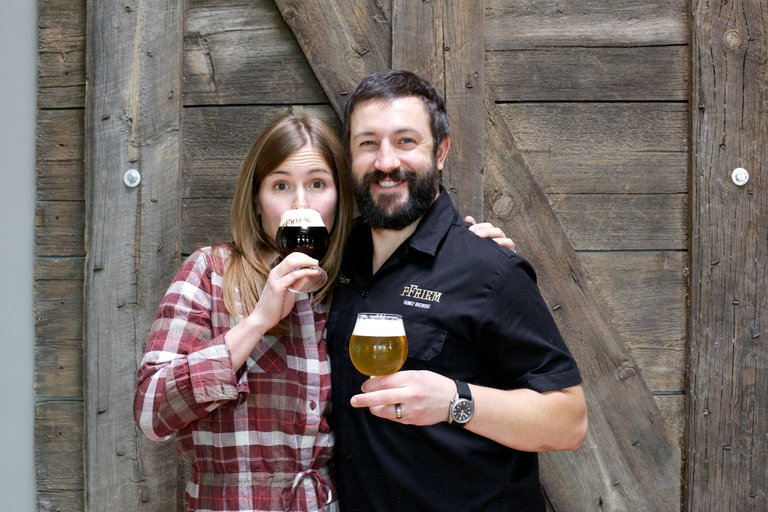 Annie and Josh pFriem host the second anniversary party on Aug. 2 at the brewery's waterfront location.