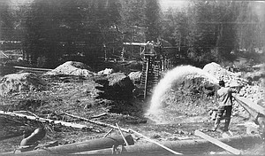 Giant and elevator on Miller Creek Florence ID 1907 Rodney Lawrence Glissan Photo copy