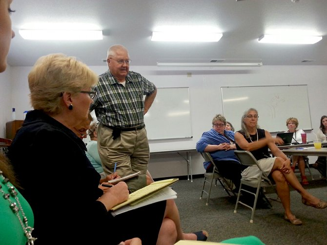 Clyde Hanson was one of more than 25 audience members at the July 28 meeting of the Syringa Hospital board. Hanson spoke about the necessity for a helipad and referenced his more than 600 hours in the back country and his time as an EMT.