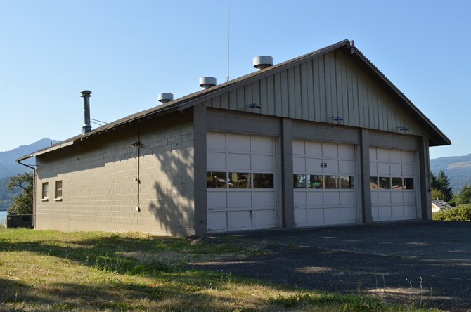 The former fire hall for Cascade Locks Fire and EMS has been put on the market again by the city, which is asking a total of $150,000 for the land and the building located at 505 N.W. Wa Na Pa in downtown Cascade Locks. Interested buyers can call the city at 541-374-8484.