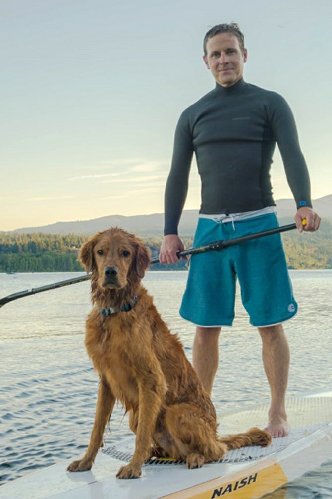 fundraising for Hood River Adopt-A-Dog and Golden Bond Rescue, Matt Willett and Hunter will compete together in the Aug. 23-24 Naish Columbia Gorge Paddle Challenge.
