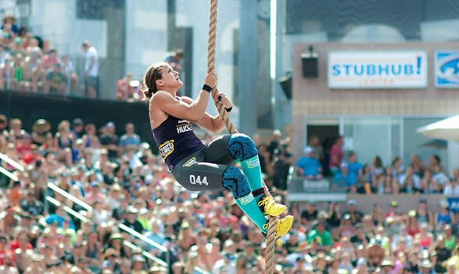 Regan Huckaby finished 30th in the open womens division at the CrossFit Games.