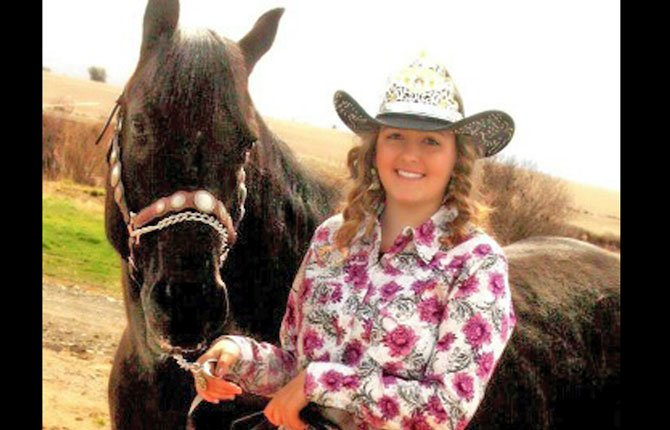 WASCO COUNTY Fair and Rodeo Queen Harley Burgener and her horse, Foxy, reign over fair weekend.