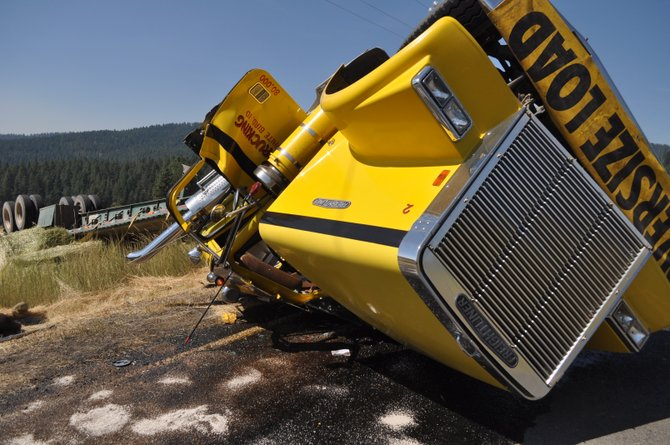 Minor injuries resulted to a Payette man following a semi-truck and trailer rollover on Cottonwood Butte Road last Thursday, Aug. 7.