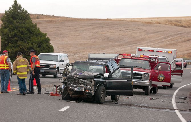 "One person died and others were injured in a two-vehicle collision at the intersection of Highway 197 and Ward Road about 8.5 miles south of The Dalles this morning after 7 a.m. A white Chevrolet pick-up coming off Ward Road collided with a black Chevrolet Blazer. The pick-up had one occupant, the Blazer had multiple occupants, said Lt. Pat Shortt of the Oregon State Police. ""People were transported for treatment of injuries,"" Shortt said, but he did not know exactly how many. LifeFlight air ambulance was called to the scene. The investigation is continuing."