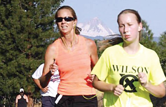 RUNNING athletes were on full display Saturday in Maupin for the Wasco County Fair run/walk. Heidi Hagman took first place in the women's 10k race with her time of 44 minutes and one second.