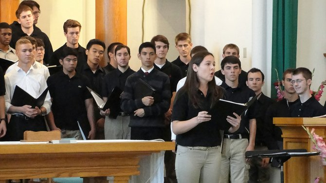 The Gonzaga University Choir will perform in Cottonwood Sept. 14.