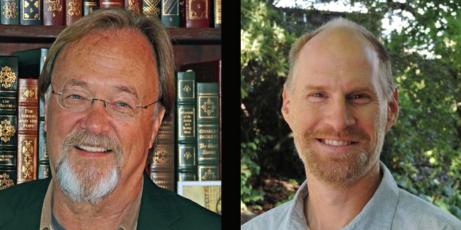 Hood River mayoral candidates in the 2014 general election: Greg Colt, left, and Paul Blackburn, right.