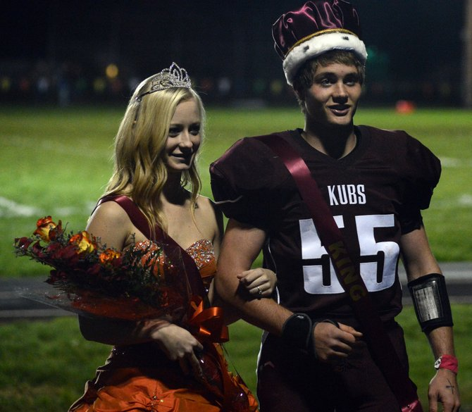 Kamiah crowned queen Katelynn Daugherty and king Jason Lloyd during halftime of the Kubs' 50-20 homecoming win over Genesee last Friday night, Oct. 17.