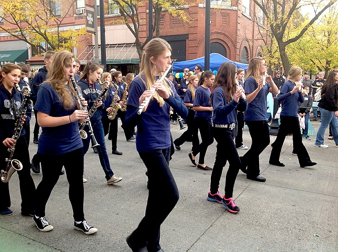The Grangeville Elementary Middle School 7/8 Band performed in the University of Idaho Homecoming parade Saturday, Oct. 18, in Moscow.