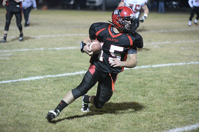 Hunter McWilliams rushed for 121 yards in Prairie's 80-26 win in the first round of the 1AD1 playoffs Oct. 30 against Wallace, running through tackles as often as around would-be tacklers.