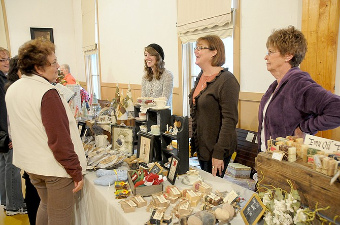 The community of Harpster held its annual bazaar, craft fair and luncheon at the Harpster Community Building Saturday, Nov. 1. A rainy fall day allowed for a good crowd of attendees who crowded into the building to shop, eat and visit.