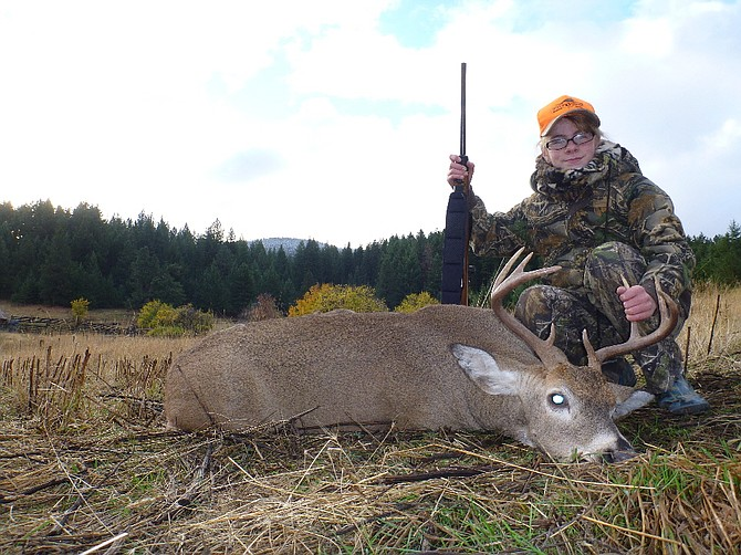 Laura Fischer of Grangeville recently got her first deer while hunting with her father