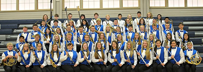 The Grangeville High School Concert Band, pictured here, has been chosen to play at Disneyland in March 2015.