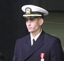 Alex Ackerman is pictured here at his commissioning Dec. 13 in Moscow.
