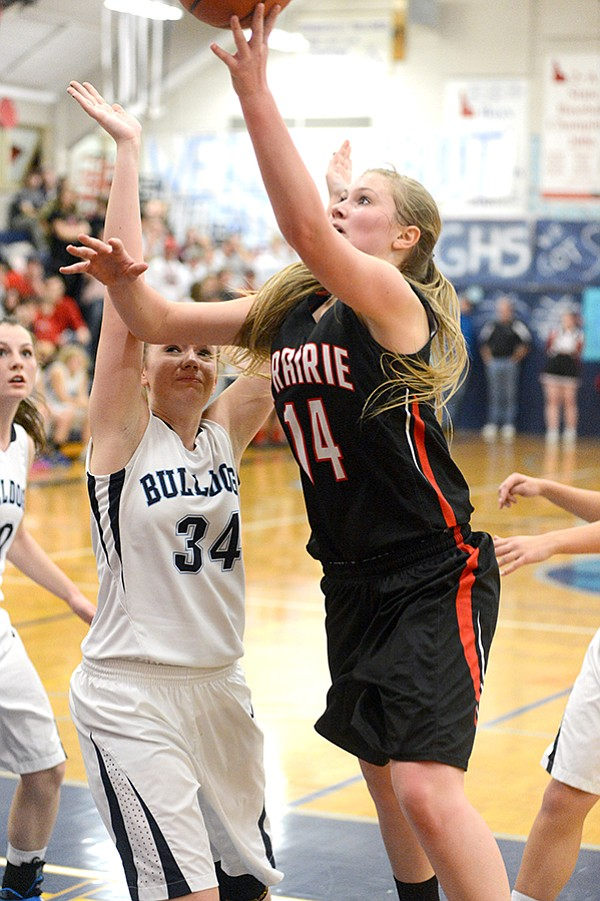 With 15 points, Prairie's Kayla Schumacher lifted PHS to a win over Grangeville during the Idaho County Shootout last Friday, Dec. 12.