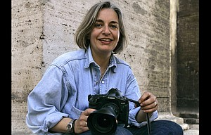 ASSOCIATED PRESS photographer Anja Niedringhaus poses in Rome in April of 2005. Niedringhaus, 48, was killed and an AP reporter was wounded on April 4, 2014, when an Afghan policeman opened fire while they were sitting in their car in eastern Afghanistan. At least 60 journalists around the world were killed this year while on the job or because of their work, and 44 percent of them were targeted for murder, the Committee to Protect Journalists says.