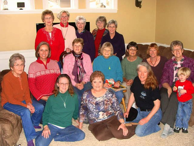 Pictured at the Big Cedar Homemaker's December meeting: (L-R) back - Pat Anderberg, Sara Schroeder, Jo Hinds, Madelon Gribble and Lynne Anderberg; middle - Susan Stephens, Becky Schultz, Cathy Ward, Jean Carroll, Gayle Tucker, Dawn Stryhas and Dana Keyser with grandson Caden Herrick; front - Caron Turner, Lorna Olsen and Irene Finehout.