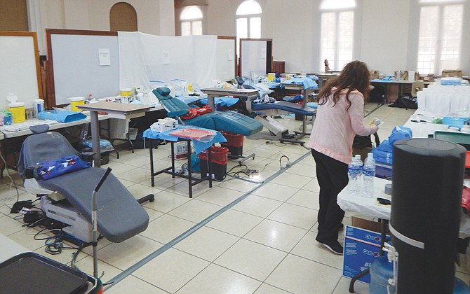 """The """"Smiles for Central America"""" dental """"office"""" was set up in a school gym, allowing the more than 40 dental volunteers the space to provide everything from teeth cleaning to specialized dental care for the 660 Latter-day Saint missionaries who took advantage of the free service."""